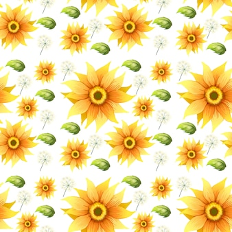 Sonnenblume auf nahtlosem hintergrund