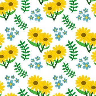 Sonnenblume herbst vektor nahtlose muster hintergrund