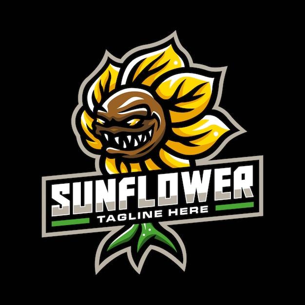 Sonnenblume maskottchen logo
