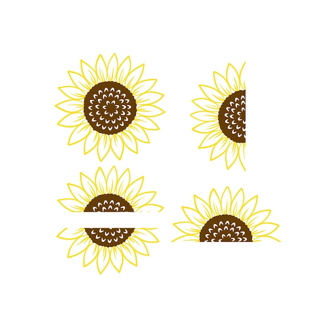 Sonnenblume monogramm vektor und clipart