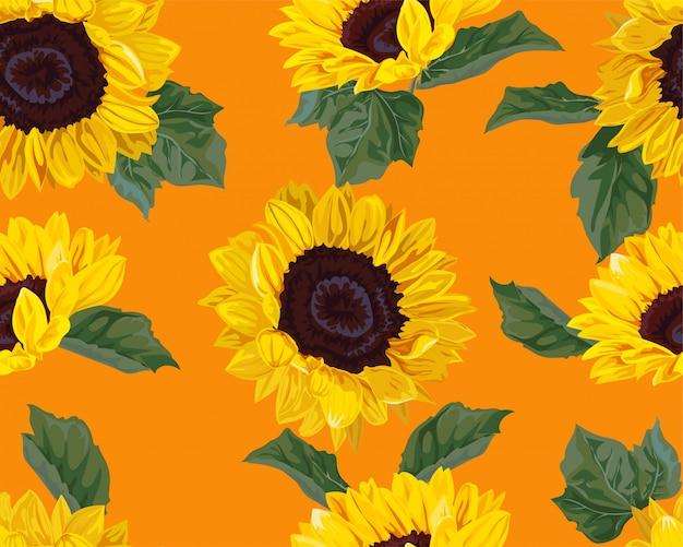 Sonnenblume nahtlose muster