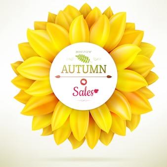 Sonnenblumen-herbstverkauf.