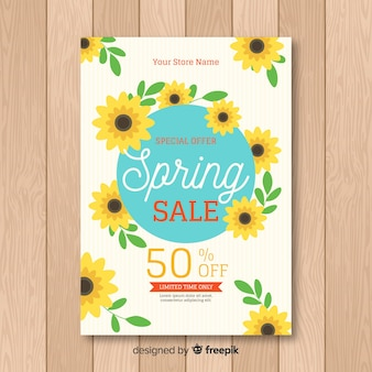 Sonnenblumenfrühlingsverkaufsplakat