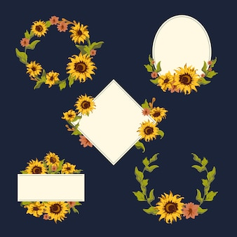 Sonnenblumenkranz-sammlung