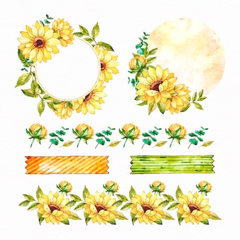 Sonnenblumenrahmen und sammelalbum-set