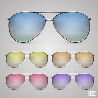 Sonnenbrille farbe objekt. vektorillustrationskunst 10eps