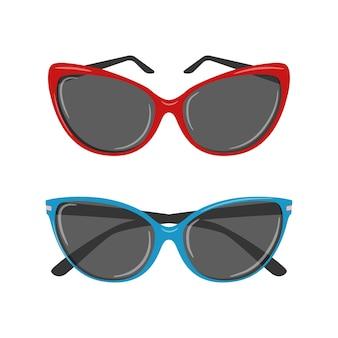 Sonnenbrille für frauen. ein persönliches modeaccessoire.