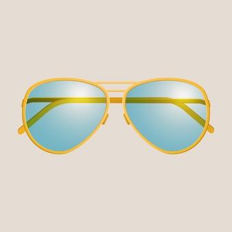 Sonnenbrille isoliert.