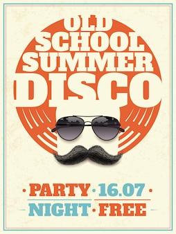 Sonnenbrille retro poster