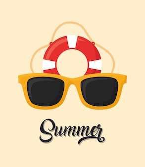 Sonnenbrille und schwimmer