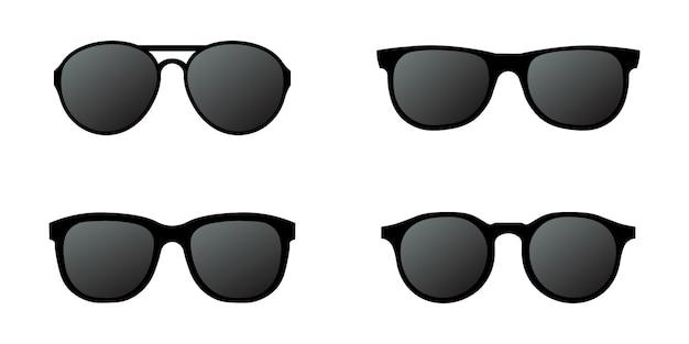 Sonnenbrillen setzen einfaches design