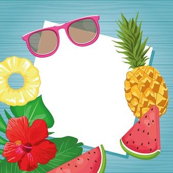 Sonnenbrillen und früchte