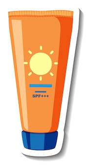 Sonnencreme-produkt cartoon-aufkleber