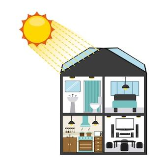 Sonnenenergiedesign, grafik der vektorillustration eps10