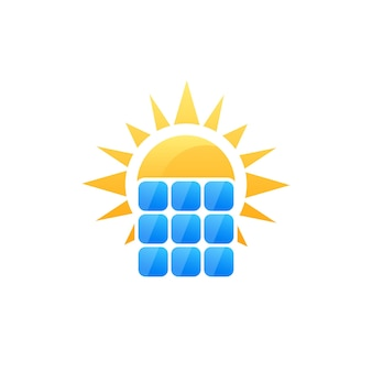 Sonnenkollektor-vektorlogo