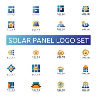 Sonnenkollektorenergie-logo eingestellt