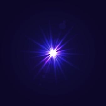 Sonnenlicht mit linseneffekt
