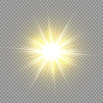 Sonnenlicht spezial linseneffekt lichteffekt auf transparentem hintergrund