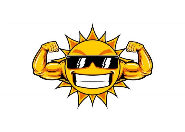 Sonnenmuskel lustig
