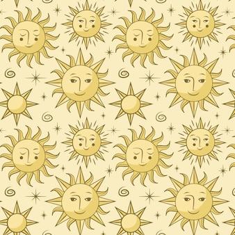 Sonnenmuster hand gezeichnet