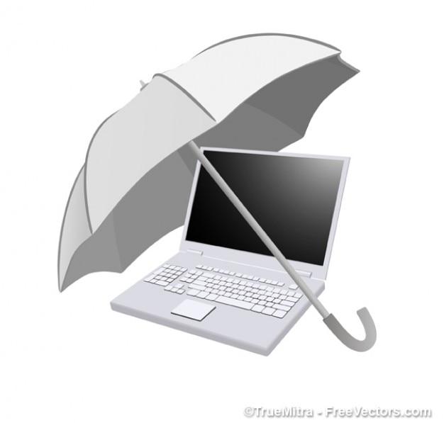 Sonnenschirm am computer