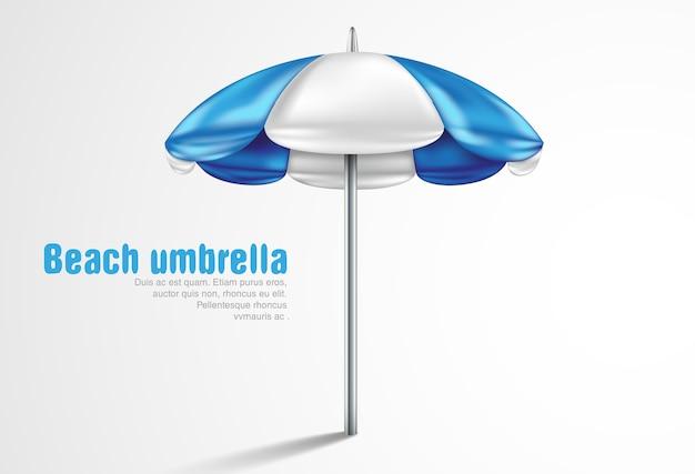 Sonnenschirm auf einem weißen hintergrund