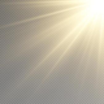 Sonnenstrahlen leuchtendes konzept