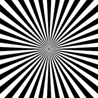 Sonnenstrahlen mit weißem und schwarzem farbhintergrund