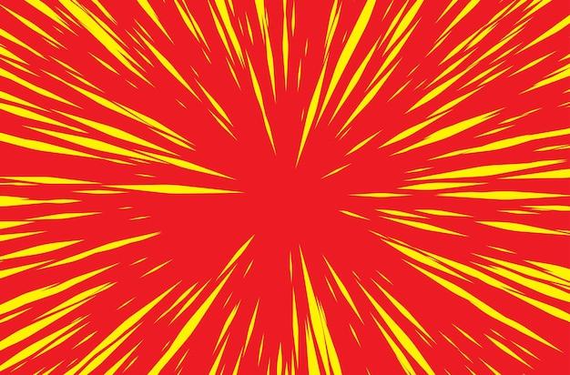 Sonnenstrahlen oder explosionsboom für comic-bücher-radial-hintergrund-vektor