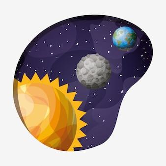Sonnensystem planeten und sonne