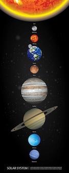 Sonnensystem unserer planeten-vektor-illustration