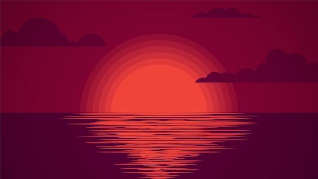 Sonnenuntergang am meer. sommerlandschaft.