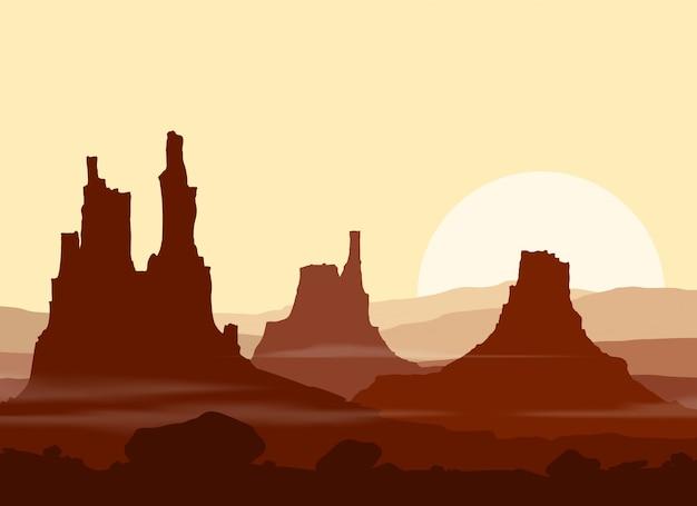 Sonnenuntergang in riesigen bergen