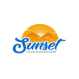 Sonnenuntergang logo vektor