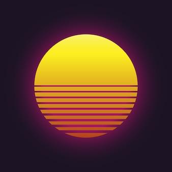 Sonnenuntergang vektor icon