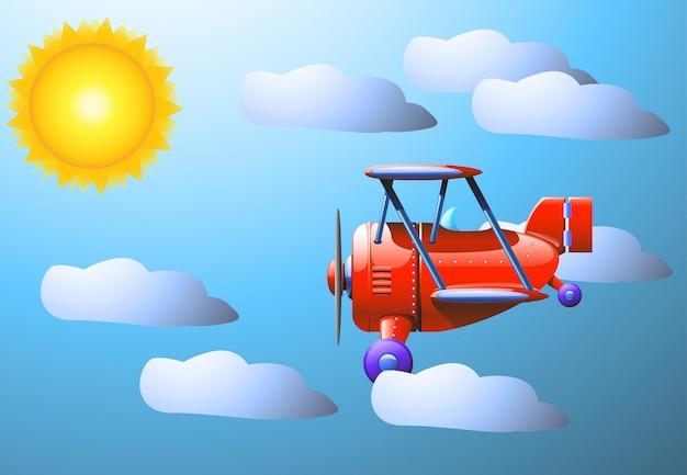 Sonnenwolkenflugzeug