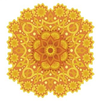 Sonnige klippkunst mit gelbem abstraktem muster