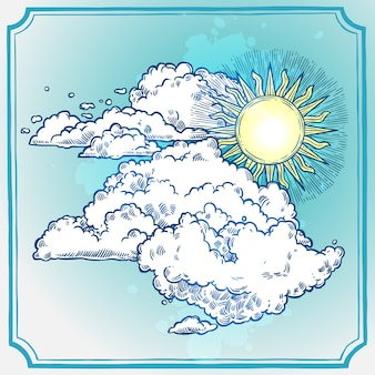 Sonniger himmel rahmen