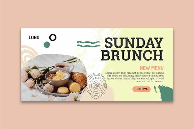 Sonntag brunch banner vorlage