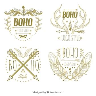Sortiment von boho logos