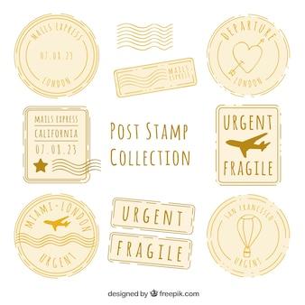 Sortiment von dekorativen briefmarken