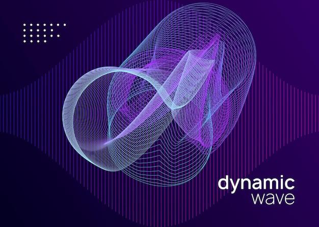 Sound-flyer. kreatives show-cover-konzept. dynamisch fließende form und linie. neon-sound-flyer. electro-dance-musik. elektronische festveranstaltung. club-dj-poster. techno-trance-party.