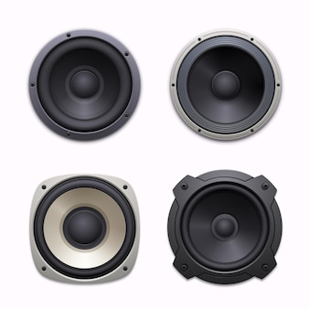 Sound-lautsprecher, stereo-audio-musiksystem-symbole