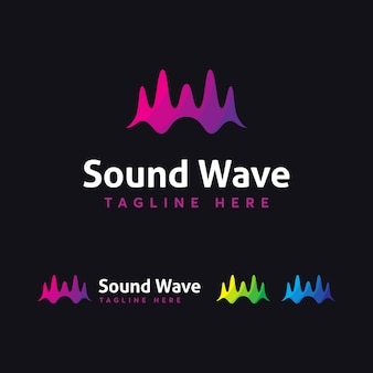 Sound wave-logo-vorlage