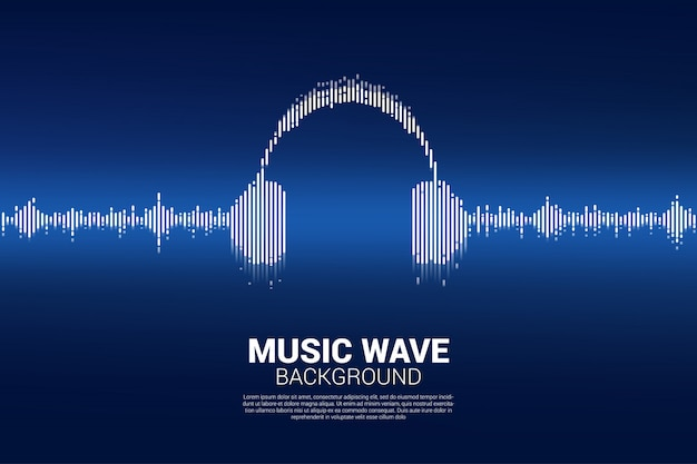Sound wave music equalizer hintergrund