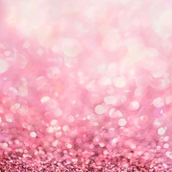 Soziale anzeigen mit rosa glitzerverlauf und bokeh