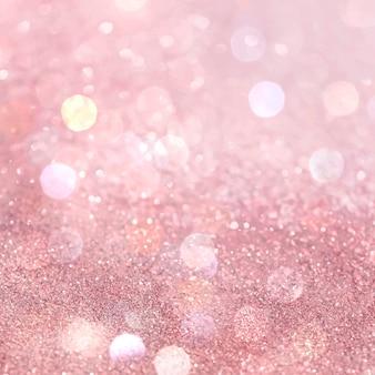 Soziale anzeigen mit rosa weißem glitzerverlauf und bokeh