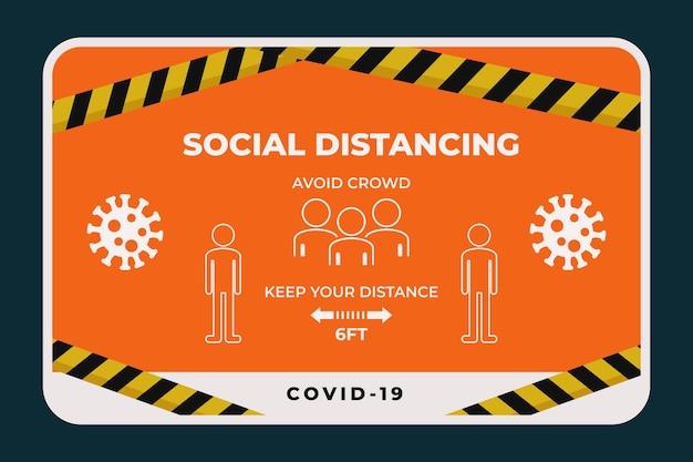 Soziale distanz banner zeichen