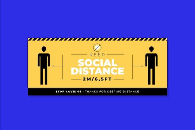 Soziale distanz banner