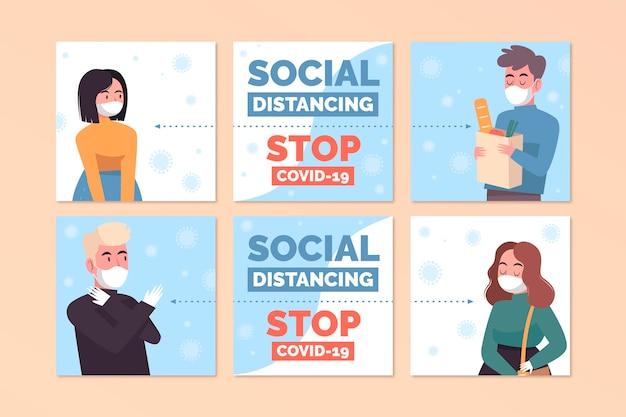 Soziale distanz ig post sammlung